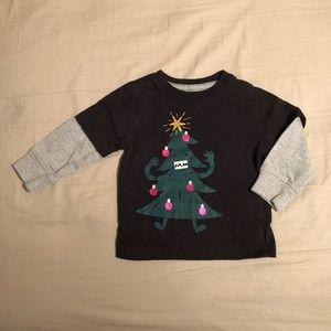 Gymboree Long Sleeve Christmas Tree Tee